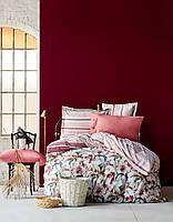Постельное белье Karaca Home ранфорс Artisan бордовое евро размер Коллекция  2017 da20ef2ebd330
