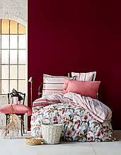 Постельное белье Karaca Home ранфорс Artisan бордовое евро размер Коллекция 2017