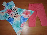 Летний костюм Love размер 116 134 140 см 116