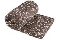 Двуспальное одеяло из овечьей шерсти Лери Макс GOLD молочные вензеля