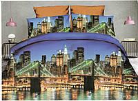 3D Полуторное постельное белье Amika ночной город