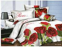 3D Полуторное постельное белье Amika - Розы