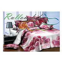 3D Полуторное постельное белье Amika розовые розы