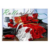 3D Двуспальное постельное белье Amika розы