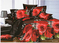 3D Постельное белье Евро размера Amika красные розы
