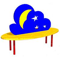 Скамейка детская  Ночь           арт. AQ17300