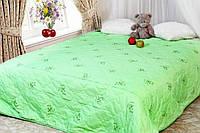 Бамбукове двоспальну ковдру Лері Макс зеленого кольору