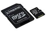 Kingston 128GB microSDXC UHS-I Canvas Select 80R class 10+SD Adapter (SDCS/128GB), фото 2