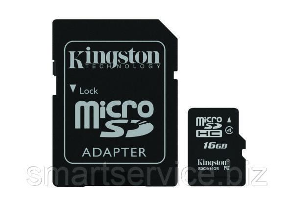 Карта памяти Kingston microSD 16 Gb+SD (SDC4/16GB)