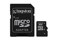 Карта памяти Kingston micrоSDHC 8Gb +SD (SDC4/8GB)