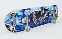 Скейтборд в сборе (роликовая доска) BIG SHARK  (колесо-PU, р-р деки 78х20х1,2см, 608Z)