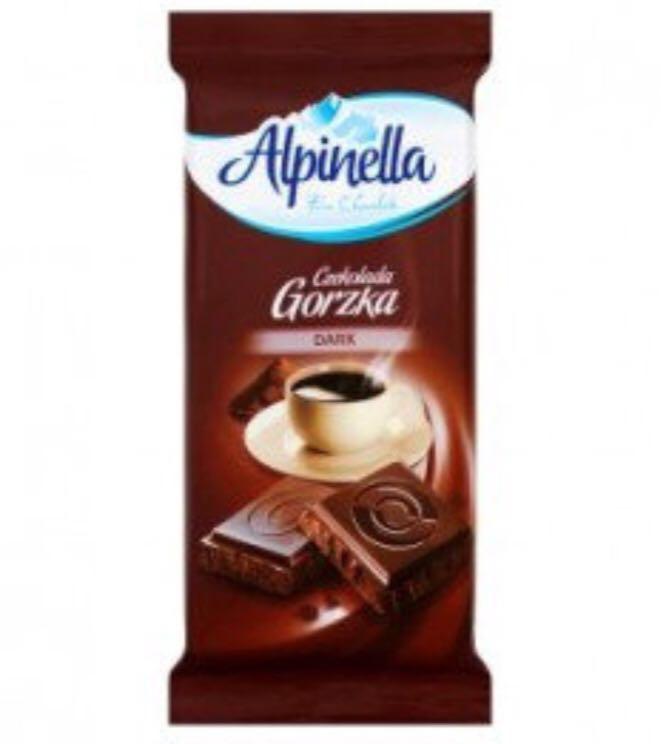 Шоколад Alpinella Gorzka черный 90 г