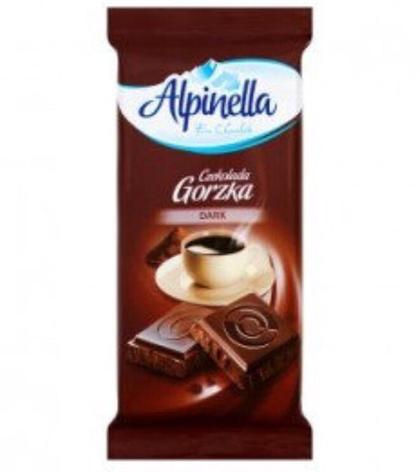 Шоколад Alpinella Gorzka черный 90 г, фото 2