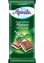 Шоколад Alpinella молочный с мятой 100 г