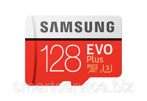 Карта памяти Samsung EVO Plus microSDXC UHS-I 128GB сlass10 +SD адаптер (MB-MC128GA/RU)