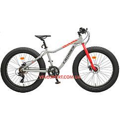 Фэтбайк Crosser Fat Bike 26 дюймов серый