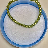 Жемчуг стеклянный зеленый 4мм