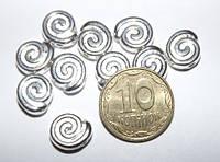 Бусина металлическая Спираль