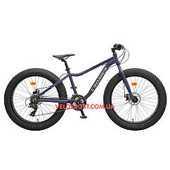 Фэтбайк Crosser Fat Bike 26 дюймов синий