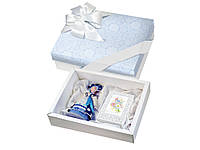 """Набор """"С 8 марта"""": кукла декоративная, шоколадные конфеты """"Конфаэль"""", белый/синий (13517_OS)"""