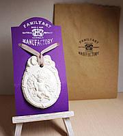 Арома камень 6х7см Медальон Ангелок (без арома)