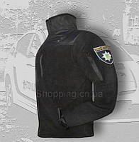 Кофта флисовая полиции черная POLICE. Толстовка тактическая патрульная, фото 1
