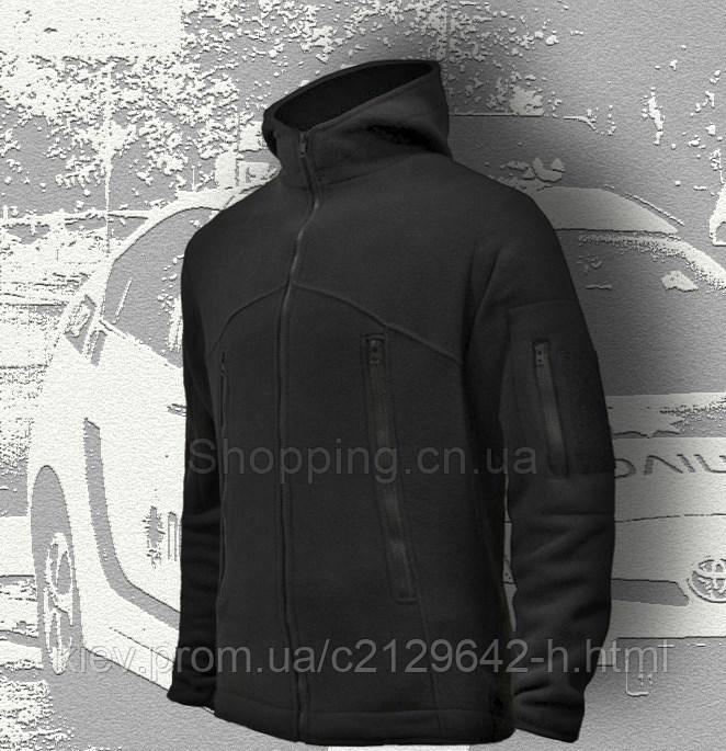 4aed885da177 Кофта флисовая черная мужская тактическая с капюшоном Sherpa Black купить  по лучшей ...