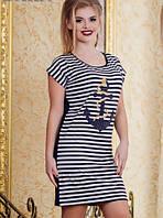 Платье с якорем норма  р2851, фото 1