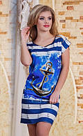 Платье с якорем норма  р2855