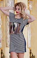 Платье в полоску  р2858, фото 1