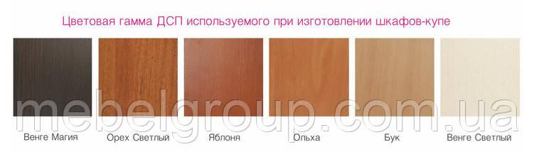 Шкаф купе Стандарт 210*45*210 Яблоня, фото 2