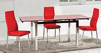 Стол стеклянный ТВ014 красный