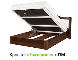 """Кровать """"Екатерина"""" Дерево (с подъемным механизмом)"""