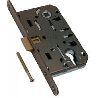 Замки для межкомнатных дверей врезной AGB Mediana Evolution PZ 18/96, античная бронза