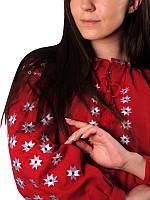 Блуза женская Звездная (красная) ТМ Берегиня (Женские и мужские вышиванки)