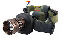 Фонарь трансформер, два в одном. Налобный и ручной. Аккумуляторный 6811 Cree-T6