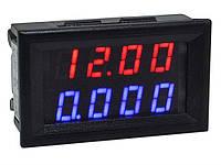Цифровой вольтметр амперметр Vktech 0-100В 0-10А