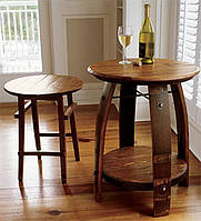 Стол и стул из дубовой бочки.