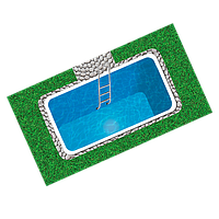 Полипропиленовый бассейн Ecosoft ECOPOOL45RDOF