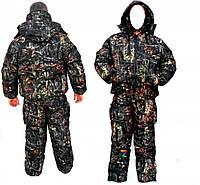 Костюм зимний «Охота-Рыбалка», из мембранной ткани (куртка Пилот, штаны полукомбинезон)