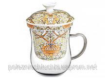 """Заварочная чашка 400 мл., стеклянная с керамическим ситом """"Моррис"""", Lefard"""