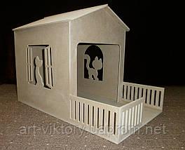 Домик для кошек с балконом (60 х 36 х 45 см)