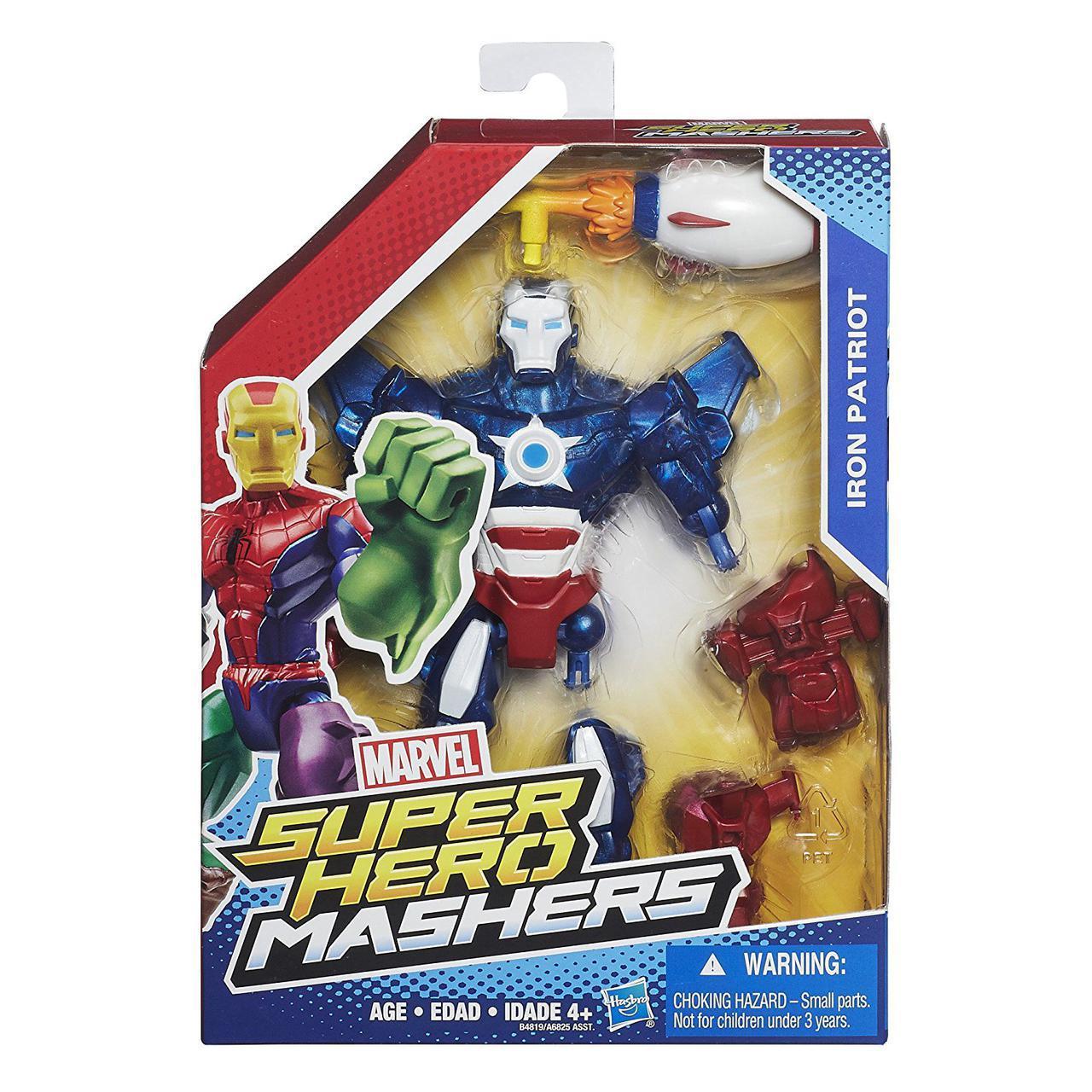 Разборная фигурка супергероя  Железный Патриот - Iron Patriot, Marvel, Mashers, Hasbro