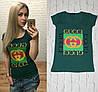 Новинка! женская футболка Турция бутылочный S-M, L-XL