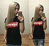 Новинка! женская модная футболка Турция черный S M L