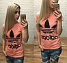 Новинка лета женская футболка катон Турция персик S M L