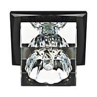 Светильник точечный с кристаллом Feron JD55 прозрачный, серый