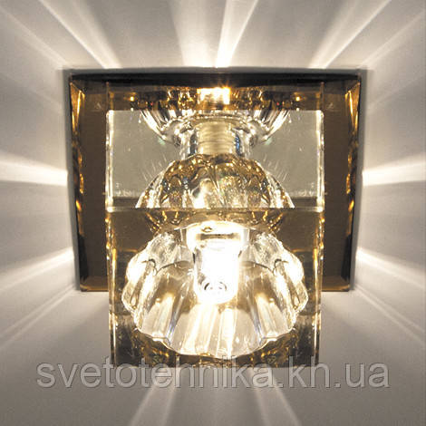 Светильник точечный с кристаллом Feron JD55 прозрачный,чайный