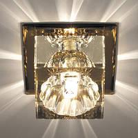Светильник точечный с кристаллом Feron JD55 прозрачный,чайный, фото 1