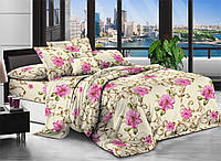 Двуспальное постельное белье полиСАТИН 3D (поликоттон) 85147